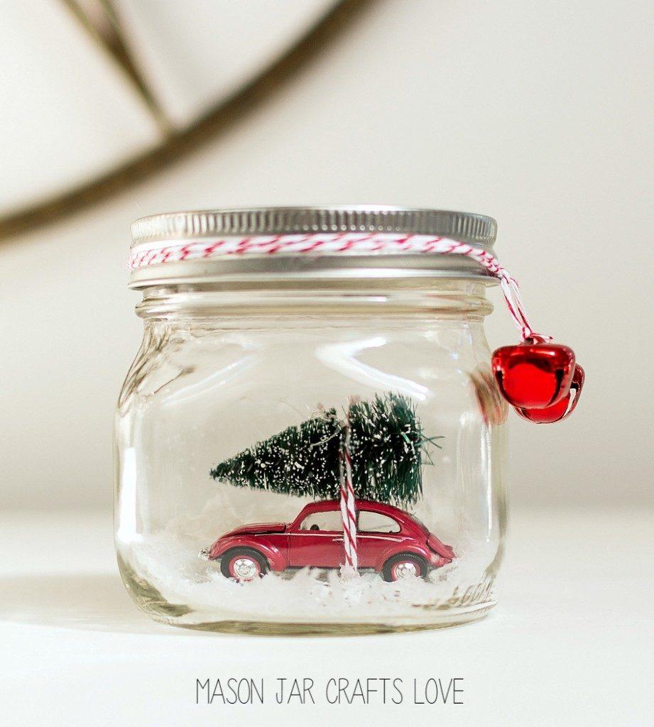 That's Monique_5 DIY for Christmas_Car in Mason Jar Snow Globe