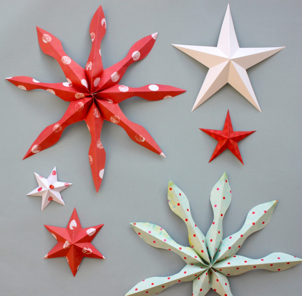 That's Monique_5 dIY for Christmas_Paper Stars 3 Ways