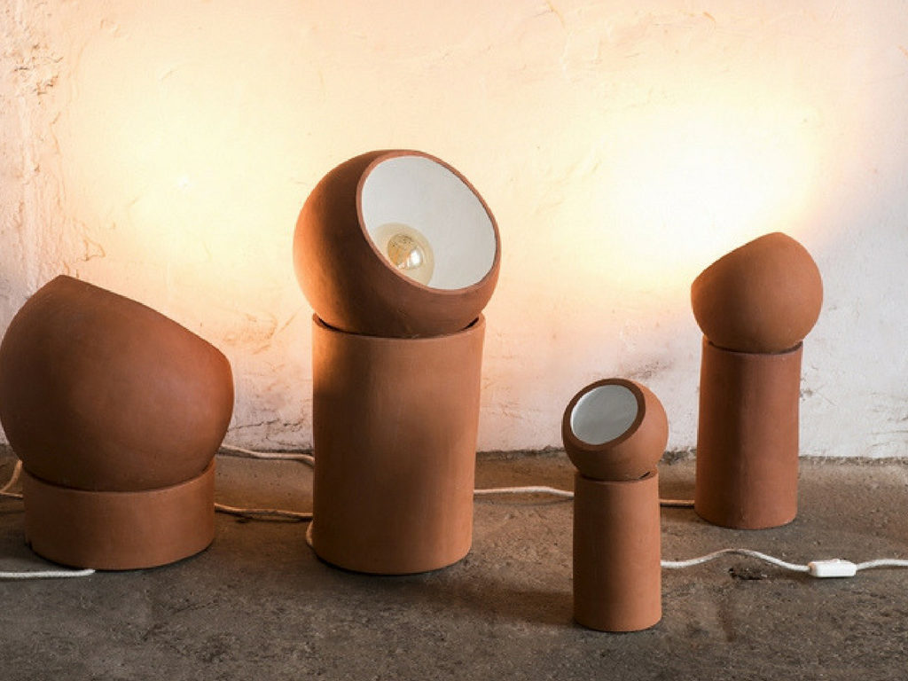 My colour selection terracotta serax terra lamps